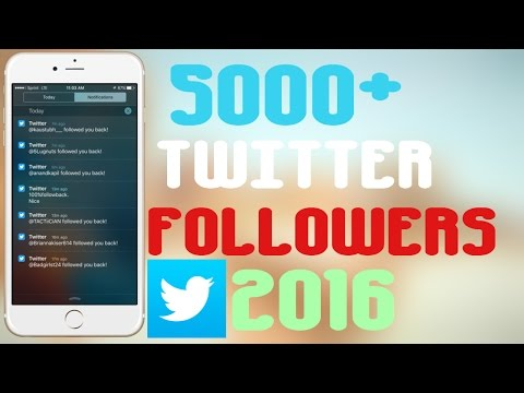 GET 5000 TWITTER FOLLOWERS iOS/Android 2016