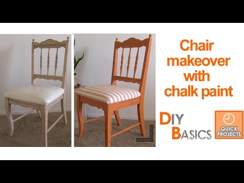 How to give an old chair a new look with chalk paint: DIY Basics