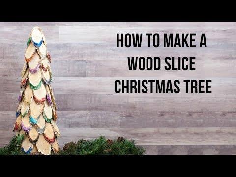 How to make a wood slice Christmas tree