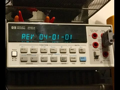 Unboxing and testing my new (used) Agilent/HP 34401A bench meter