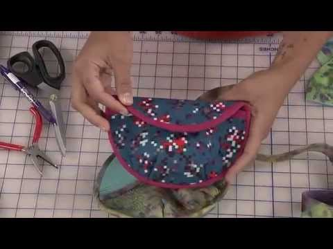 How to make a round clutch purse- ITS SEW EASY SHOW 613-1