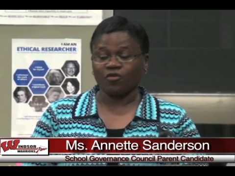 Windsor High School - School Governance Council Parent Candidates
