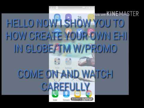 How to Create your own Fast Ehi in Globe with promo