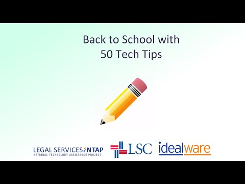 Back to School with 50 Tech Tips 9/10/2014