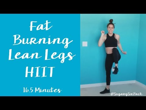 Lower Body Fat Burning HIIT Cardio Bodyweight Workout