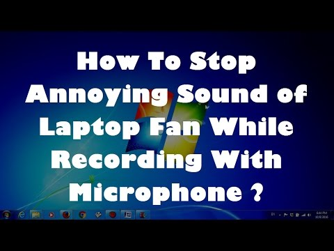How To Stop Annoying Sound of Laptop Fan While Recording With Microphone - Simple Fix