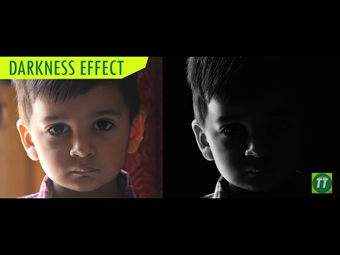 Photoshop Tutorial: Darkness Effect | Black & White Photo | Tech Tutorials HD