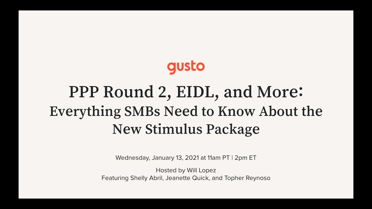 PPP Round 2, EIDL, and More: Everything SMBs Need to Know About the New Stimulus Package