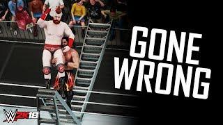 WWE 2K18 - Ladder Finisher OMG Moments Gone Wrong! (OMG Fails)