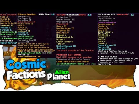 The LAST GOD SET KILLS On ALIEN PLANET!!! (RIP) - CosmicPvP Ep 16 (Factions) Map 7 [Alien Planet]