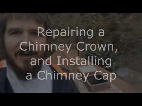 Repairing A Chimney Crown: Total Amateur Fixes Chimney Crown and Cap