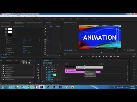 Adobe Premiere Pro CC in Title Reveal Effect Animation