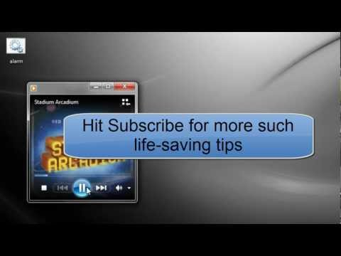 Alarm clock for Windows 7/8 PC in one minute