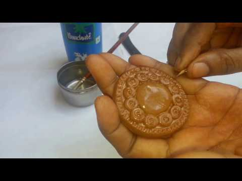 terracotta pendent /tutorial for terracotta pendent with silicone mould/ clay molds