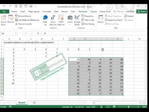 Generate Random Number - Membuat Nomor Acak Pada Range Excel dengan Macro VBA