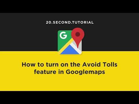 Avoid toll roads in Googlemaps | Google Maps Tutorial #10