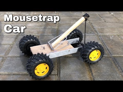How to Make a Car from Mousetrap (Catapult Car)