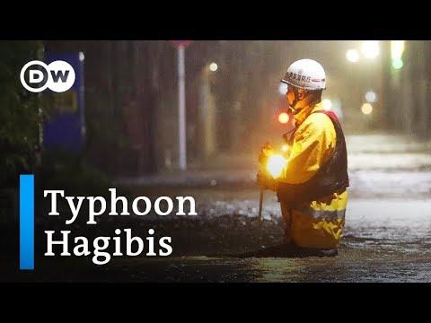 Xxx Mp4 Super Typhoon Hagibis Tears Through Japan Toward Tokyo DW News 3gp Sex