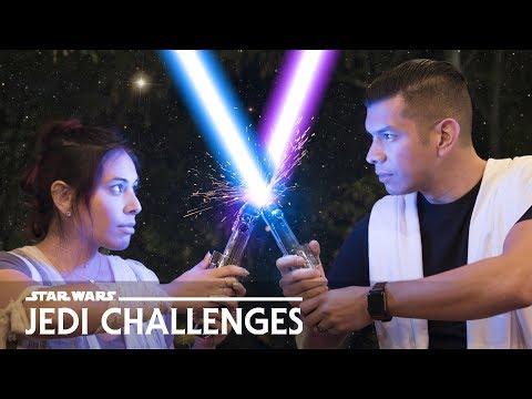 LIGHTSABER Challenge! Husband vs. Wife - Star Wars: Jedi Challenges