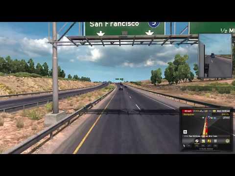American Truck Simulator LOS ANGELES-SACRAMENTO-RENO-ELY-PIOCHE-LAS VEGAS-PHOENIX.
