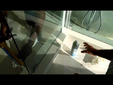 How to silicone & install FRAMELESS shower doors