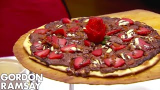 ramsay forced to spit out bacon chocolate pizza hotel hell