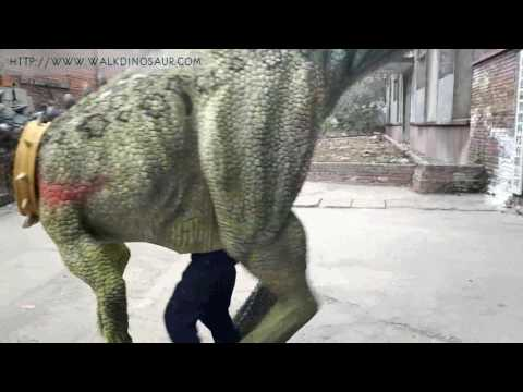 Custom dinosaur costume with realistic colors