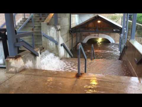 West Windsor Princeton Junction Train Station Flooded