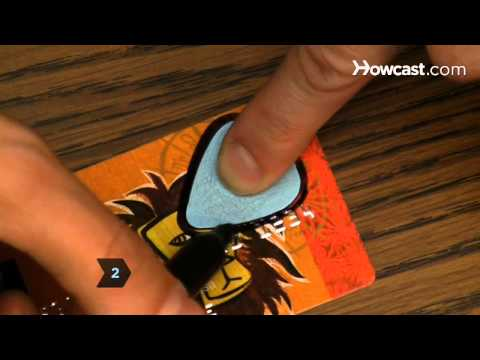 How to Make a Guitar Pick from an Old Gift Card