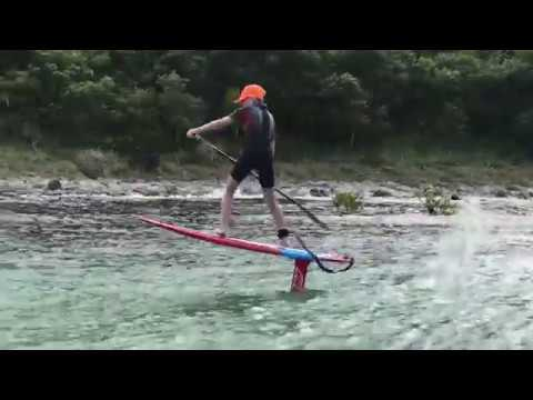 NZ Boy Rides Bumps on Axis Sup Foil