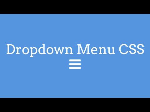 Hover Dropdown Menu CSS - TheMindSpeaks