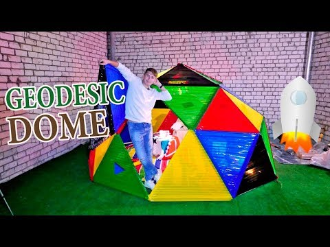 GEODESIC DOME FROM DUCT TAPE |  Geodesic Home – DIY