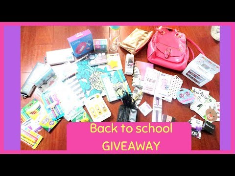 Back To School Giveaway 2018 | Orly C