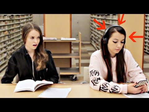 Blasting EMBARRASSING Songs in the Library PRANK!