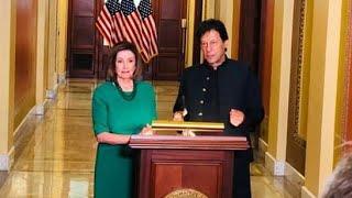 Nancy Pelosi & PM Imran Khan Media Talk at Congress Washington