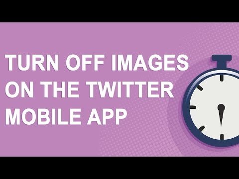 Turn off images on the Twitter mobile app