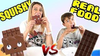 Download SQUISHY VS REAL FOOD CON MI MAMA Video