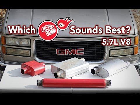 Comparing four Cherry Bomb® mufflers on my GMC Yukon - Sound Test 5.7L V8