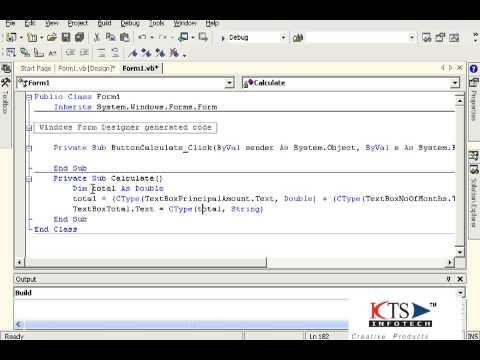 Developing a Basic windows application using VB.NET  VB.NET Programming Video Tutorials