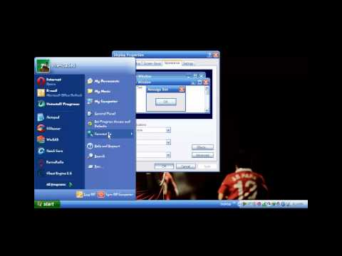 How to change font in windows xp