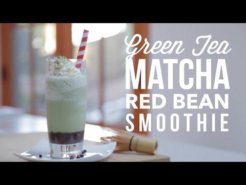 Green Tea (Matcha) Red Bean Smoothie Recipe