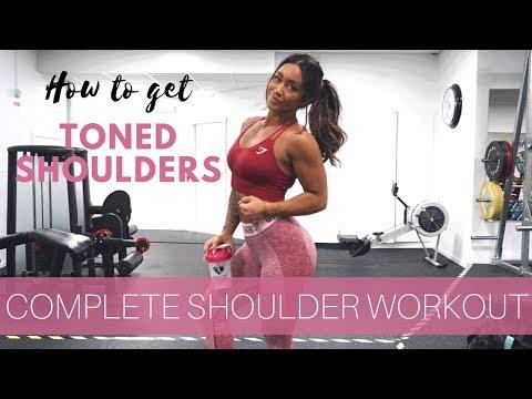 7 EXERCISES FOR TONED SHOULDERS! Women's shoulder guide