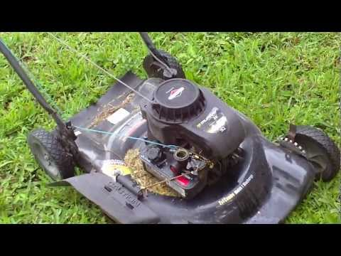 Converting lawn mower to manual throttle