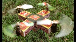 How to Make a Matches Quadcopter at Home .Kitchen use.
