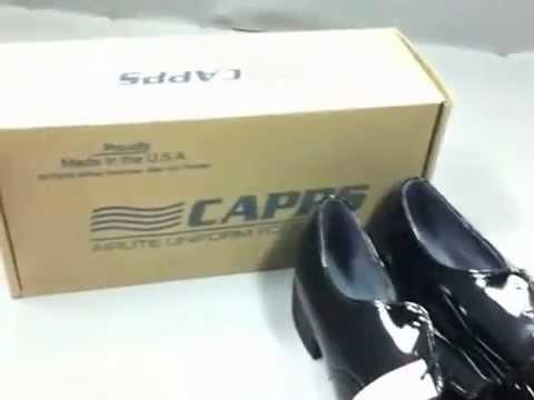 Capps Mens Black Oxford Dress Shoes