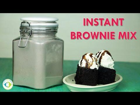 Instant Brownie Mix Recipe | WW Eggless Easy Homemade Chocolate Brownie Sundae