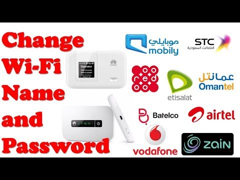 How to Change WiFi name and Password of  Huawei  Mobile / Pocket Wifi