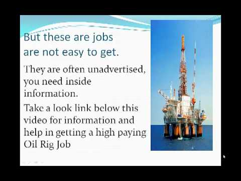 Oil Rig Work-No experience required
