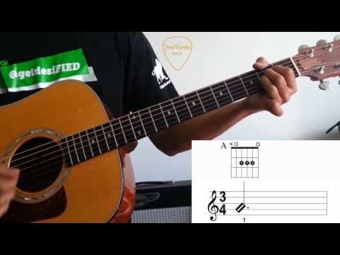 Free Guitar Lesson!! How-to Read Music for Rhythm Guitar - Part 1