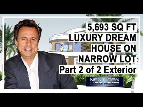 Luxury Dream House Extrior on Narrow Lot 2 of 2